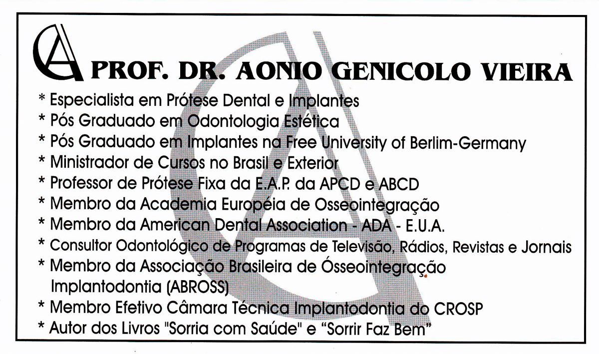 Dr. Aonio curriculum